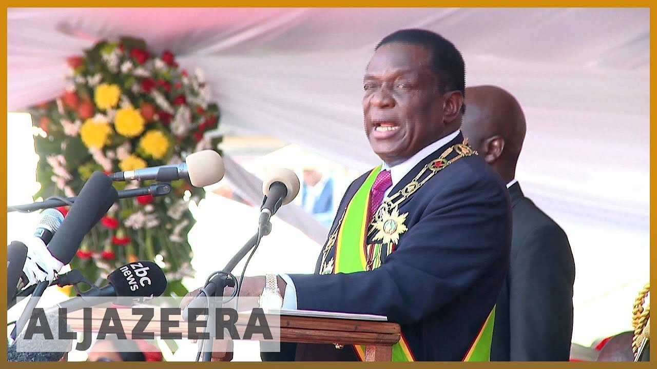 🇿🇼 Zimbabwe: Emmerson Mnangagwa sworn in as new president | Al Jazeera English