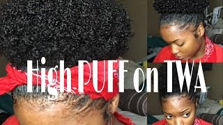 How To: PUFF with Short Natural Hair (Type 4 Hair) | Natural Hair Journey