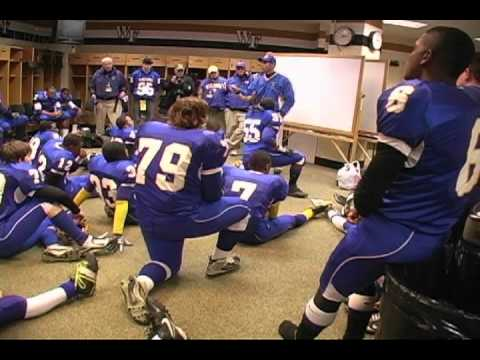 Jeff Craddock gives pregame Speech Before 2010 State Championship Game  - Tarboro High Football