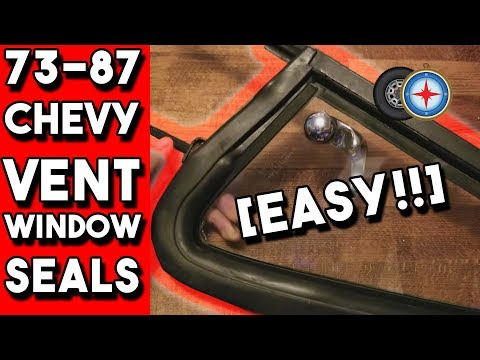 How to Replace Chevy Vent Window Weatherstrip EASY! | 73-87 Chevy GMC CUCV Truck SUV
