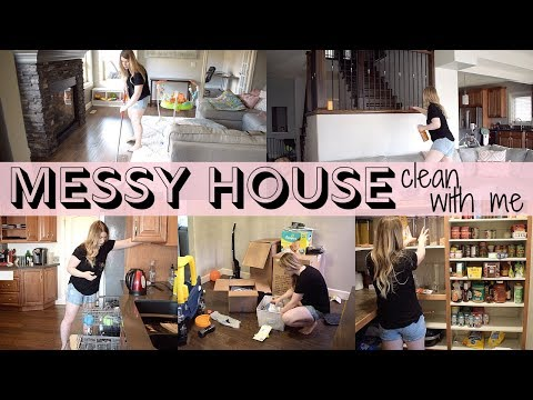 ULTIMATE MESSY HOUSE CLEAN WITH ME  //  SERIOUS CLEANING MOTIVATION  //  MAIN FLOOR CLEAN  // SAHM