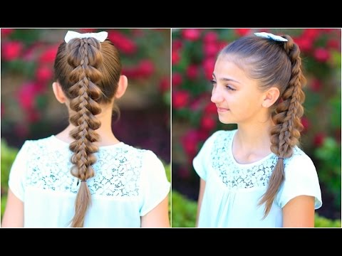 Stacked pull thru braid cute girls hairstyles youtube stacked pull thru braid cute girls hairstyles urmus Image collections