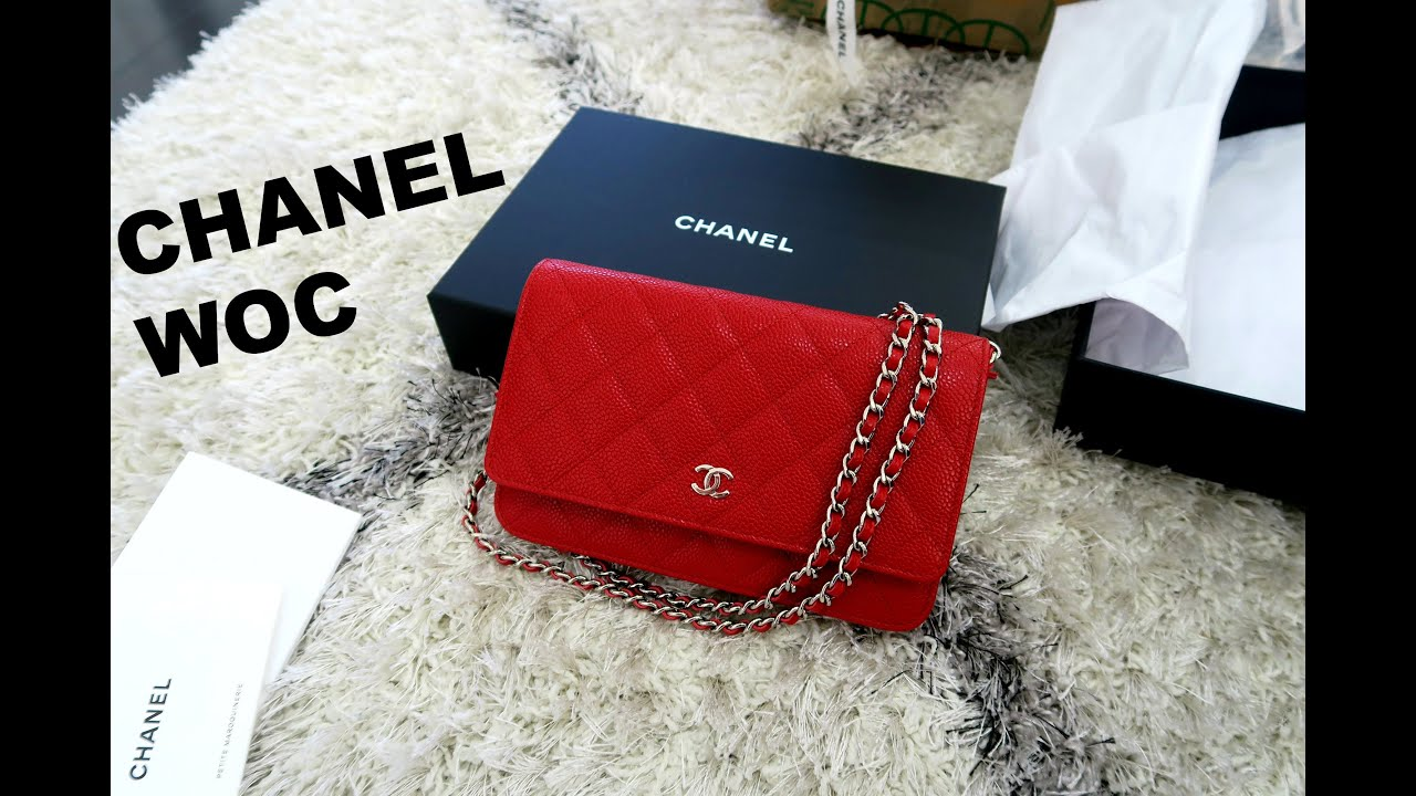 da91c28cf2a2 Chanel Unboxing Red WOC - YouTube
