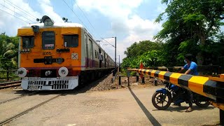 High Speed Beml & ONoL Local Train Passing through Out Railgate