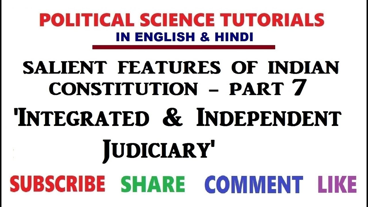Salient Features of Indian Constitution   Part 20   Integrated & Independent  Judiciary