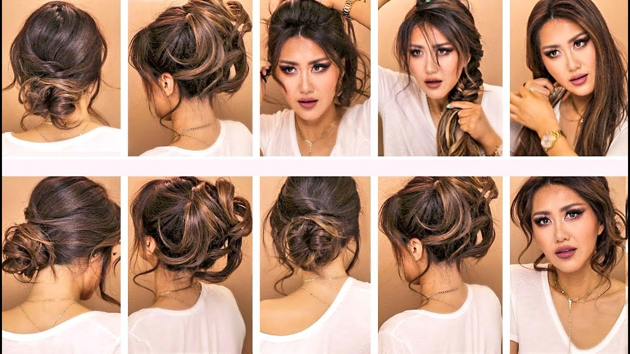 ☆TOP 2017: Ft Herstyler 💗 Everyday FALL HAIRSTYLES For WORK U0026 SCHOOL 💗  UPDOS For MEDIUM LONG HAIR 💗