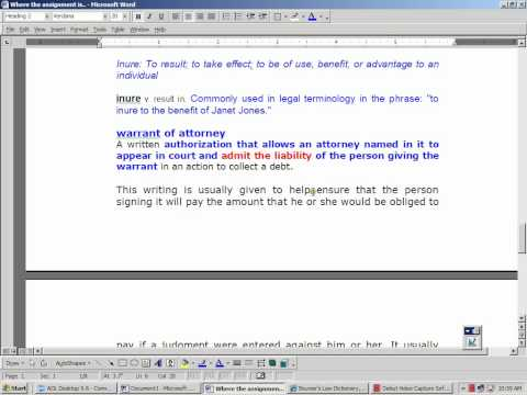 Assignment of deed of trust.wmv
