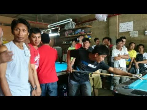 Iligan City: Local Lads Playing Pool/Billiards, Mindanao, Philippines