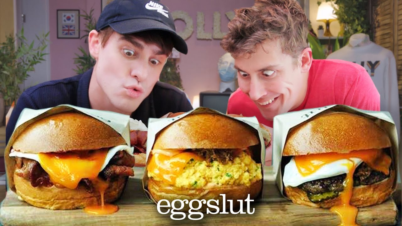 """So the Famous """"EGGSLUT"""" is now in the UK!? (The Ultimate Brunch Burger??)"""