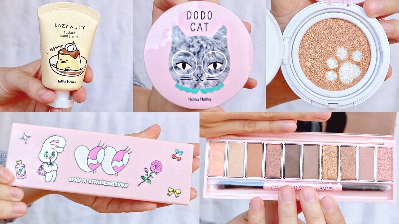 korean makeup haul super cute kbeauty products youtube
