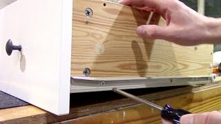 How to fix loose wood furniture screws - Ikea Repair