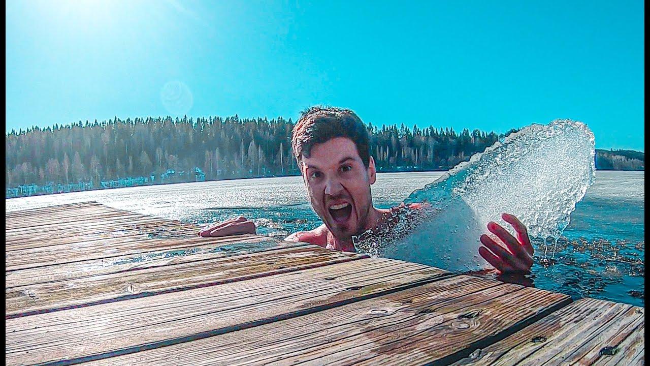 ❄️🥶 Me baño en un LAGO CONGELADO en FINLANDIA ¿Es Bueno o Malo?