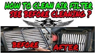 HOW TO CLEAN AIR FILTER | HOW TO CLEAN SUZUKI GIXXER AIR FILTER bye vasaikar uttam