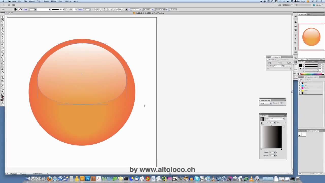 Illustrator CS5 - Tutorial - Glossy Button - YouTube