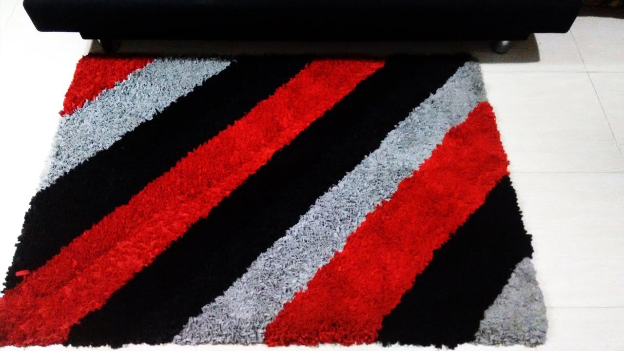 Como hacer una alfombra con tela reciclada y economica for Todo alfombras