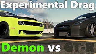 Forza Motorsport 7: Experimental Drag Update - Built Dodge Demon vs GTR!