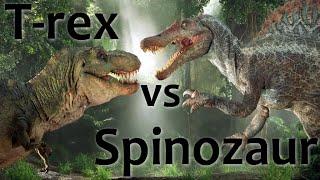 T. rex vs Spinozaur - pojedynek dinozaurów z III części Jurassic Park