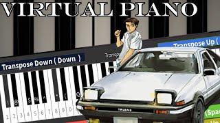 Roblox Virtual Piano: Initial D - Gas Gas Gas