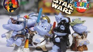 STAR WARS kinder surprise RARE review / Киндеры бегемотики Звездные Войны
