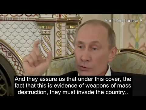 Putin on WMDs - Colin Powell lied at the UN
