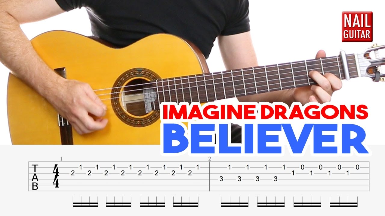 Believer Imagine Dragons Guitar Lesson Easy How To Play