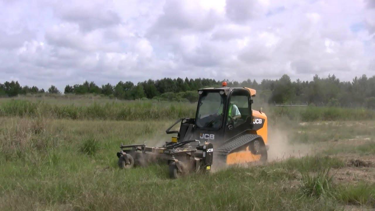 Landscape Rake For Seeding : Jcb skid steer landscape power rake attachment