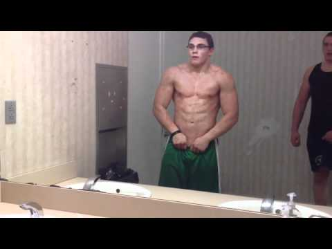 16 year old Body Builder, Flexing Abs, Richie Lam