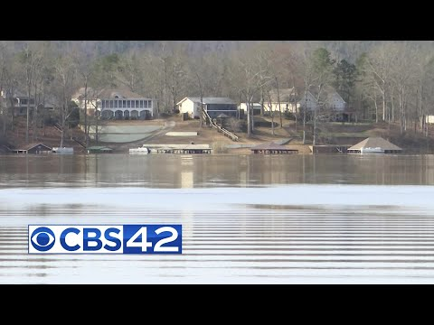 Flooding In Cherokee County At Weiss Lake