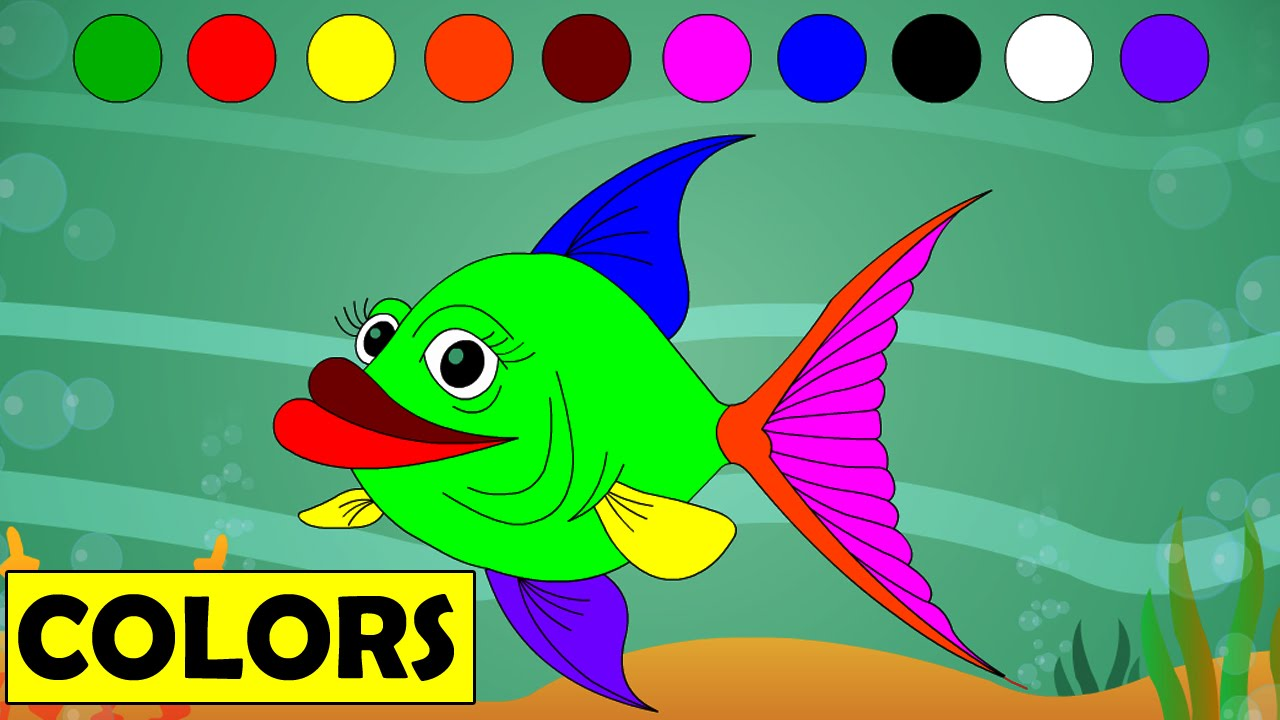 Learn Colors with Cartoon Fish | Kids Educational Videos ...