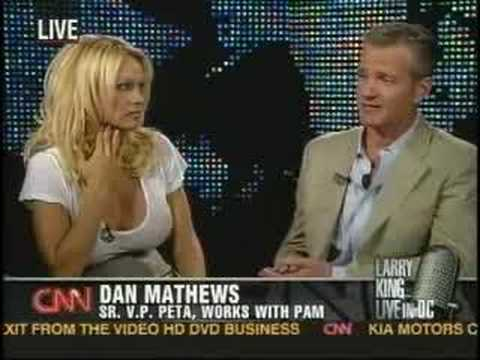Pamela Anderson and PETA on Larry King