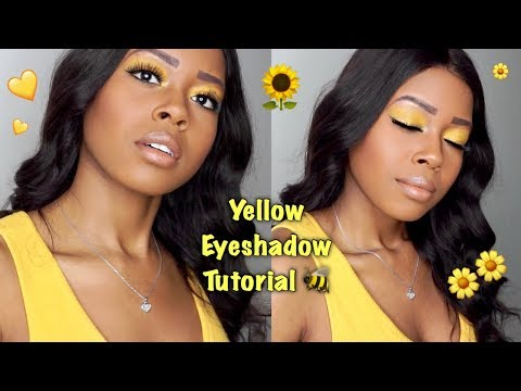 Yellow Eyeshadow Tutorial for Black Women || Hooded Eyes || BH Cosmetics thumbnail