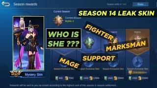 WHO IS SHE??? LEAK SEASON 14 HERO SKIN IN MOBILE LEGENDS   REAL LEAK   WATCH NOW!!!