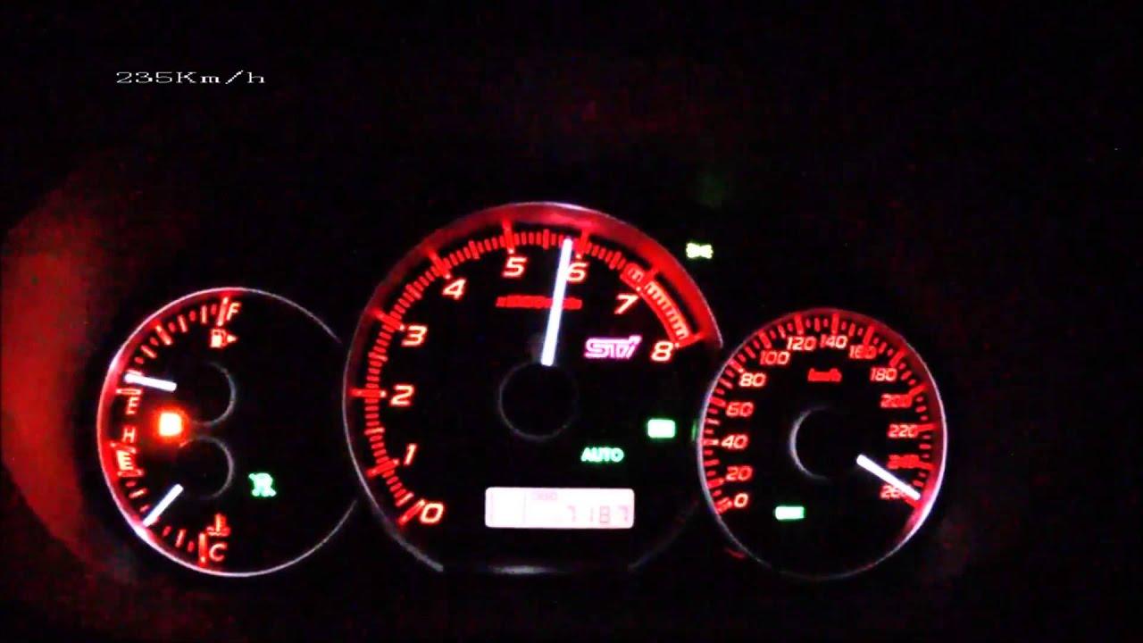 Subaru impeza STi 2012 top speed - YouTube