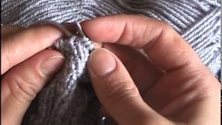 ★★★ Уроки вязания спицами | Узор для шарфика - Часть 1 . ★★★
