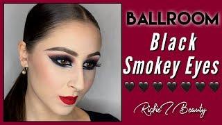 Ballroom Competition Makeup - Black Smokey Eyes