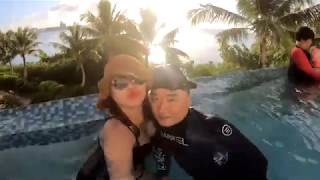 [ 괌 여행 브이로그 ] 마린파크 피쉬아이 프리다이빙하고 인피니티풀에서 괌선셋 보기
