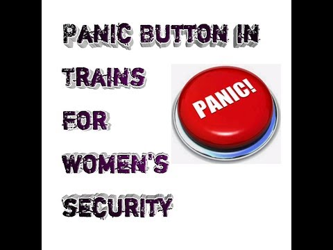 """""""Panic"""" Button in Train for Ladies"""