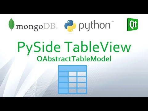 Python and MongoDB #04 - Create PySide QTableView