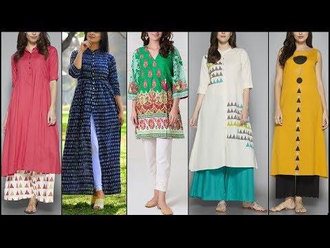 Latest Palazzo/ pants with kurta design ideas/kurta with Palazzo office/college outfit ideas