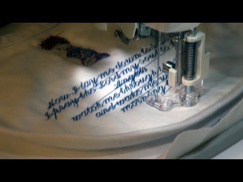 How to machine embroider a poem or saying
