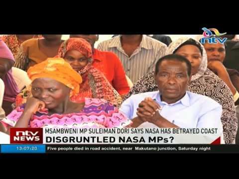 MPs from coast want region to rethink its support to Nasa; say the coalition has betrayed coast