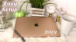 MACBOOK AIR 2019 UNBOXING AND SETUP EASY STEP BY STEP 👩🏽‍💻