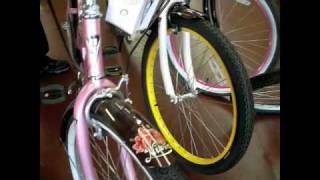 Nirve Beach Cruiser Bicycles- Hello Kittie, Paul Frank at Bumsteads Bicycles in Ontario California