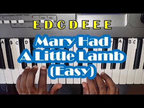 How To Play Mary Had A Little Lamb On Piano - Easy Notes - Tutorial