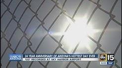 24-year anniversary of Arizona's hottest day