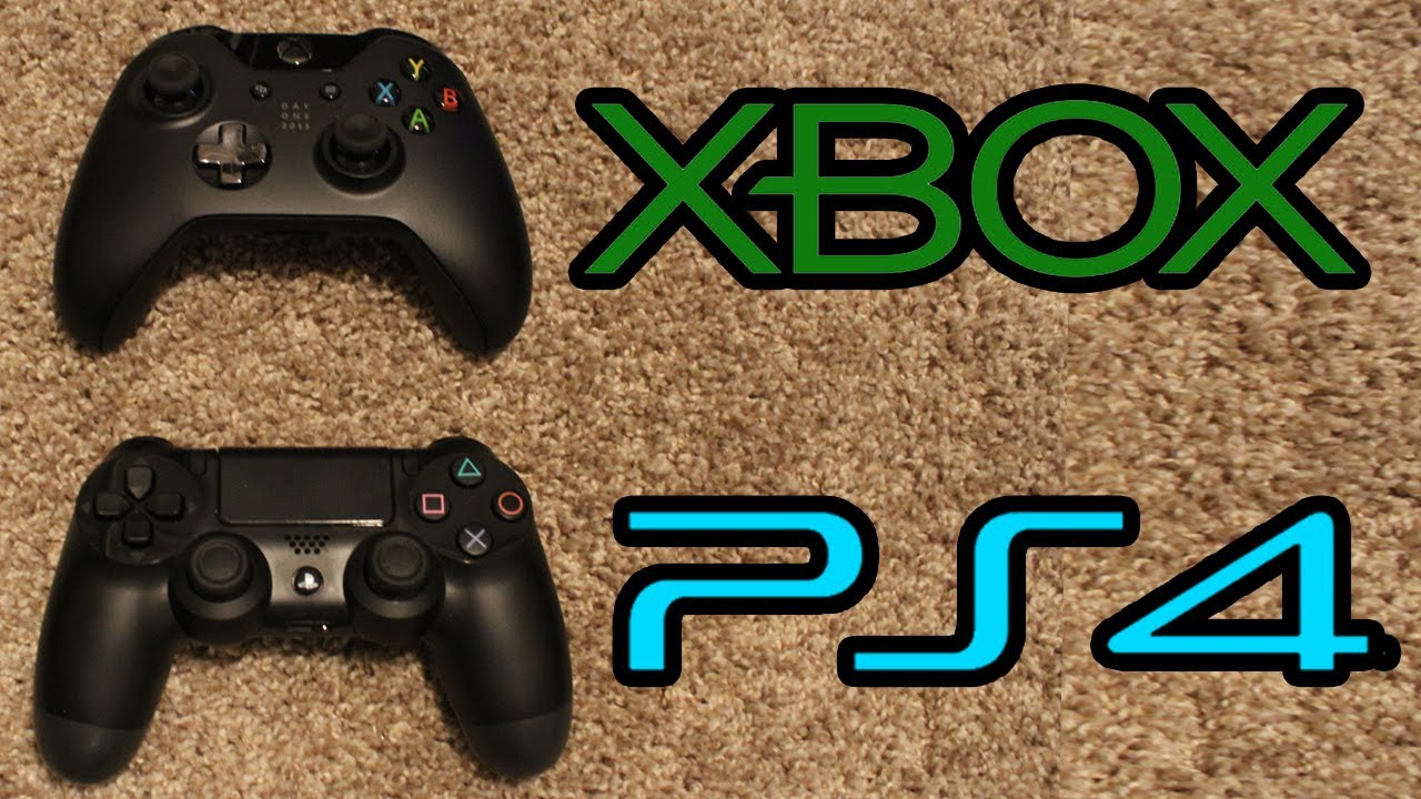 Xbox One Vs Playstation 4 Controller Comparison New Xb1