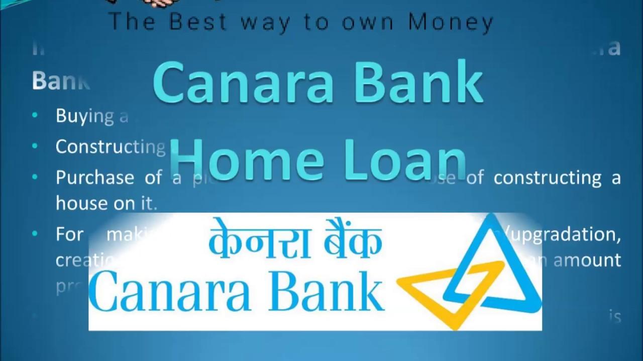 Canara Bank Home Loan | Loanfasttrack