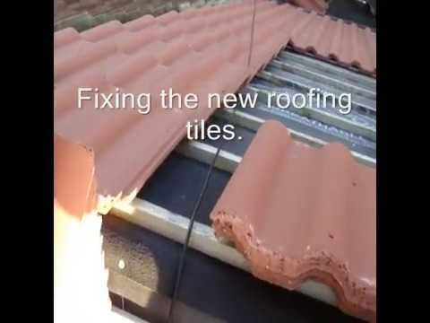 How To Strip And Re Tile A Roof Youtube