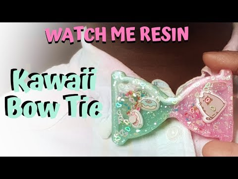 WATCH ME RESIN : Kawaii Bow Tie (Hourglass Shaker Mould)