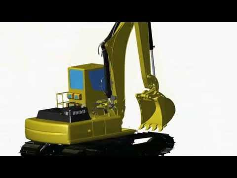 Selective Catalytic Reduction SCR installation on a Caterpillar 330